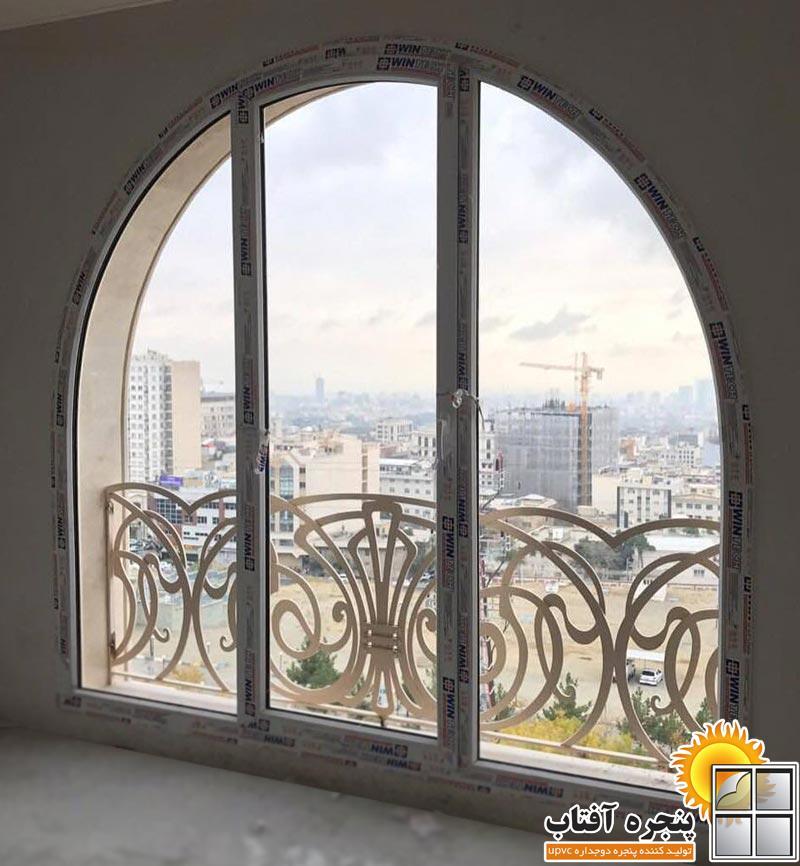 پنجره خم قوس دار