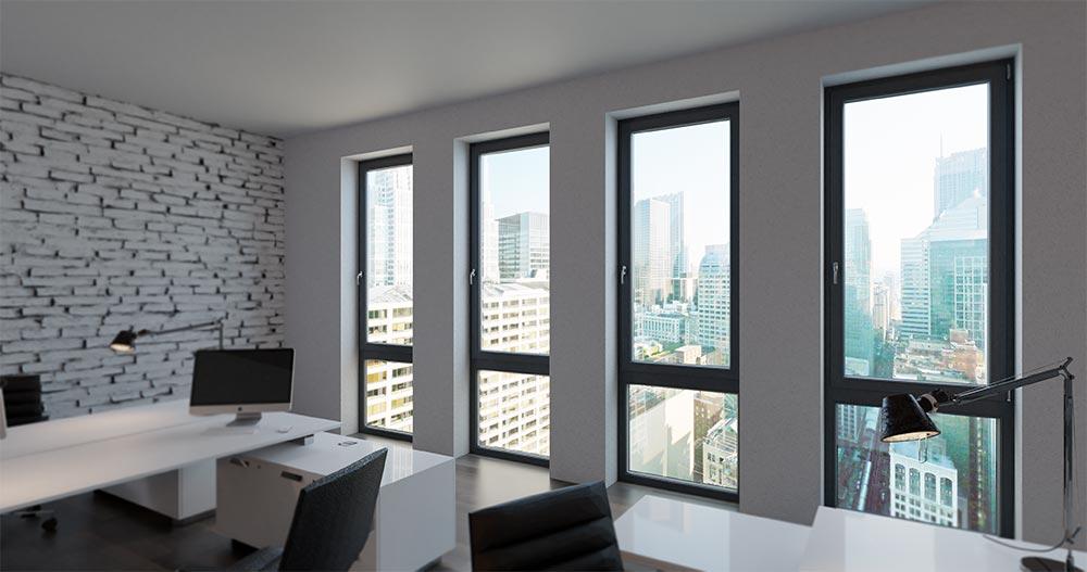 پنجره-دوجداره-رنگی -UPVC