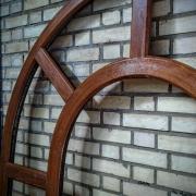 پنجره دوجداره لمینت طرح چوب