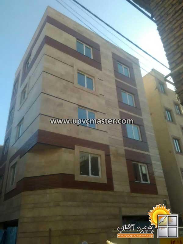 پروژه انجام شده پنجره دوجداره UPVC در حکیمیه تهران