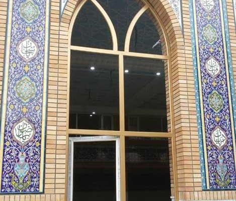پنجره دوجداره خم مسجدی