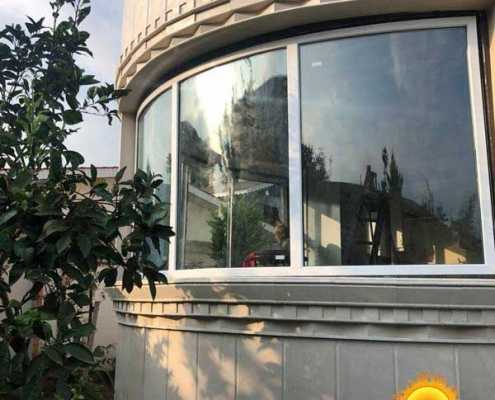 پنجره دوجداره خم UPVC