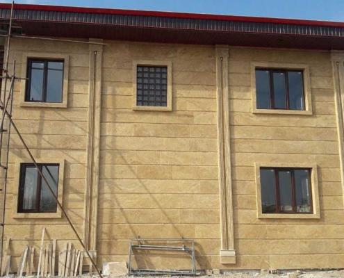 پنجره دوجداره UPVC رنگی