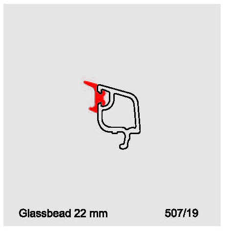 پروفیل زهوار شیشه دوجداره صاف