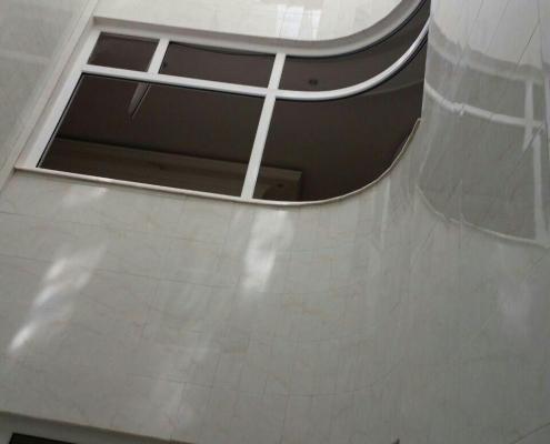 پنجره دو جداره خم UPVC