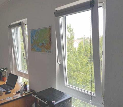 پنجره دوجداره دو حالته UPVC